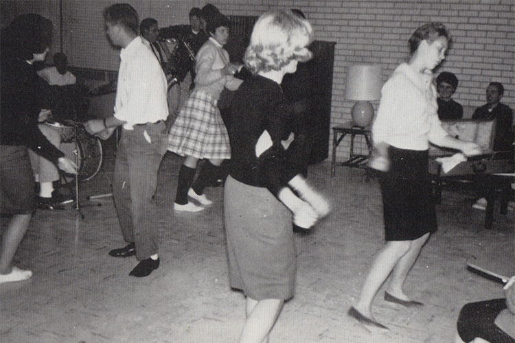 A 1962 dance shows girls doing the