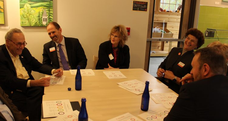 Senator Schumer meets with College President Terenzio and administration